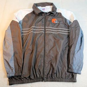 NFL Cleveland Browns Brown/Gray Windbreaker XL